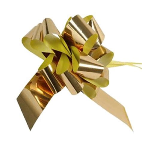 Metallic Gold Pull Bows 10