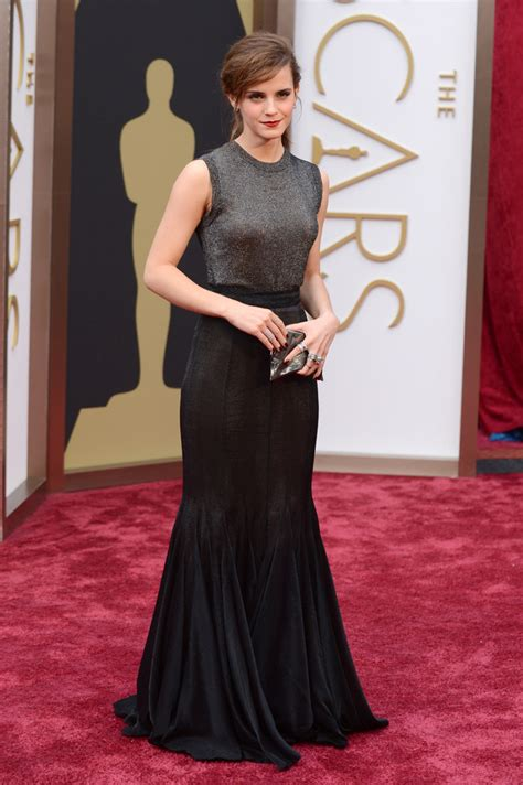 Emma Watson Oscars Vera Wang Red Carpet