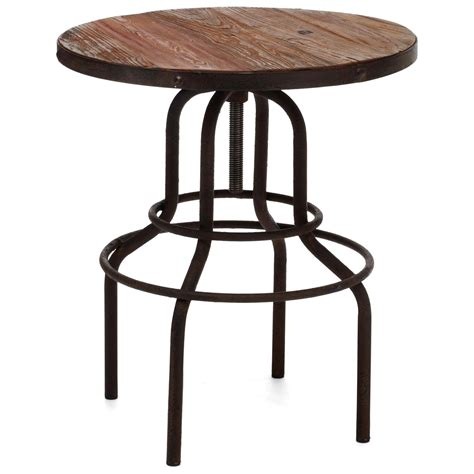 twin peaks  bistro table antique metal distressed