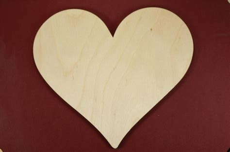 classic heart shape unfinished wood laser cut shapes crafts