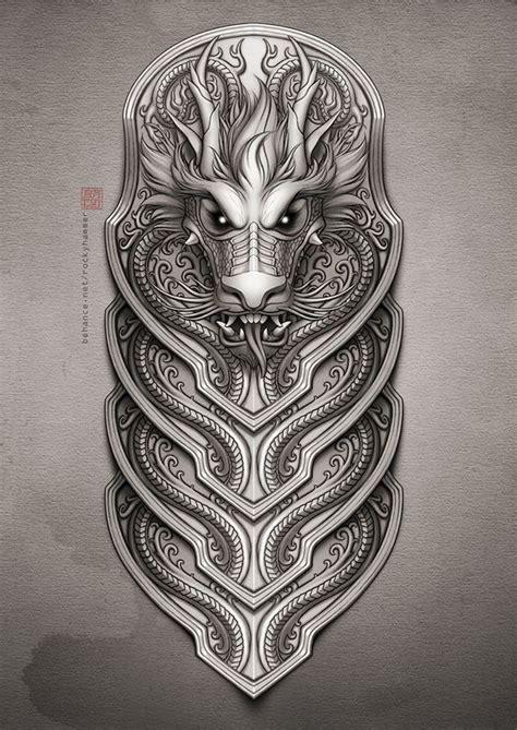 sleeve dragon tattoo  rocky hammer  behance