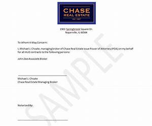 power of attorney letter real estate forms With power real estate letters