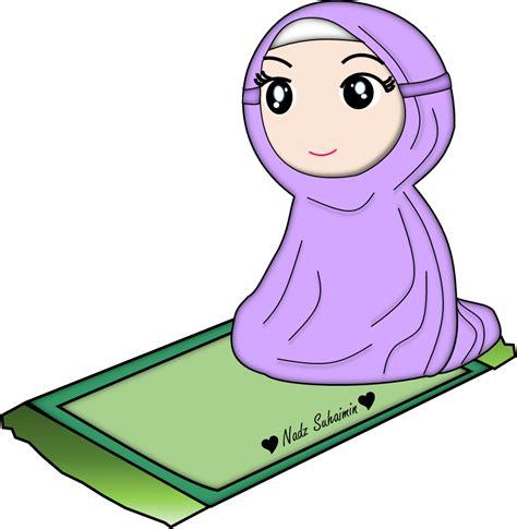 20+ koleski terbaru siluet vektor kartun pengantin muslimah png. muslimah solat | Islamic cartoon, Hijab cartoon, Doodles