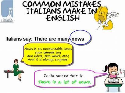 Common Mistakes English Italians Spice Class