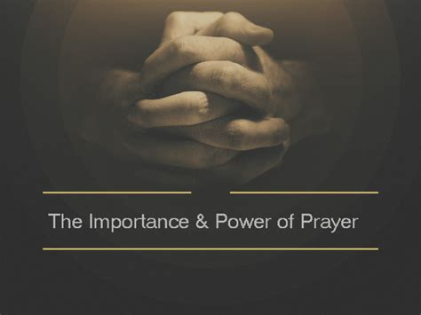 The Importance Of Prayer  Living Hope Bible Church