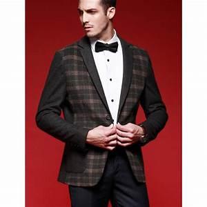 blazer a carreaux pour homme veste de costume classique plaide With veste à carreaux homme