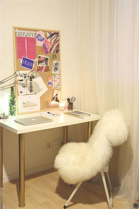 diy 18 déco un bureau customisé avec des pieds or