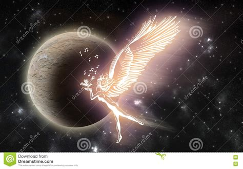 It could be a nice addition to a traditional funeral service. An Angel In Heaven Singing A Chrismas Song With A Bird Stock Illustration - Illustration of ...