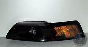 2002 Ford Mustang HID Projector Headlight Package All Black | BlackFlameCustoms.com