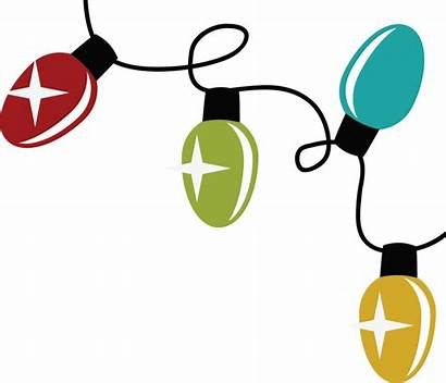Lights Christmas Clip String Clipart Background Svg