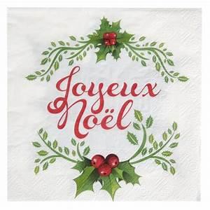 Serviette De Noel En Papier : serviettes de table joyeux no l papier les 20 ~ Teatrodelosmanantiales.com Idées de Décoration