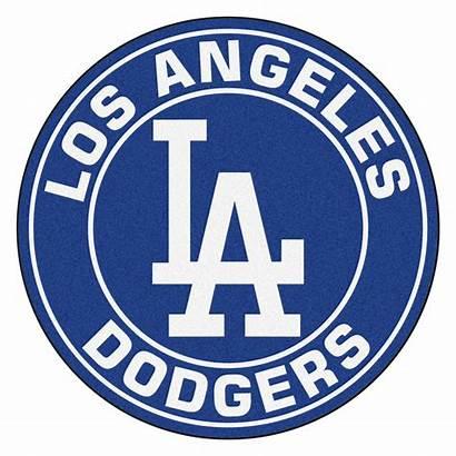 Dodgers Rug Angeles Round Area Mlb Roundel