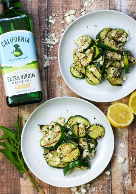 grilled zucchini  mint lemon  feta erica julson