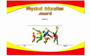 Physical Education Certificate Template Editable 8 Free Download