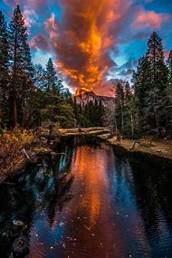 Half Dome Yosemite National Park Sunset