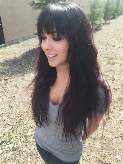 long hairstyles long hair with heavy fringe long hair