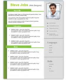 Free Resume Templates Doc 3 Free Resume Cv Templates For Microsoft Word