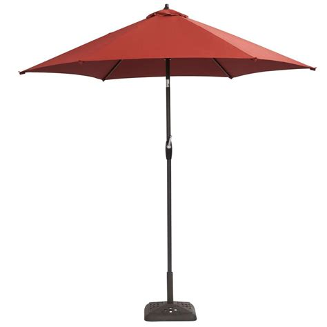 hton bay 9 ft aluminum patio umbrella in quarry