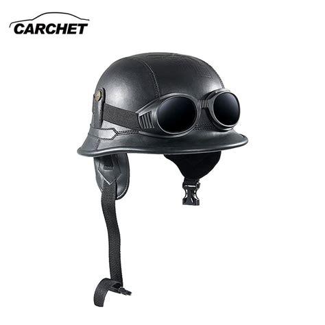 vintage motocross helmet carchet vintage motorcycle helmets retro half shell goggle