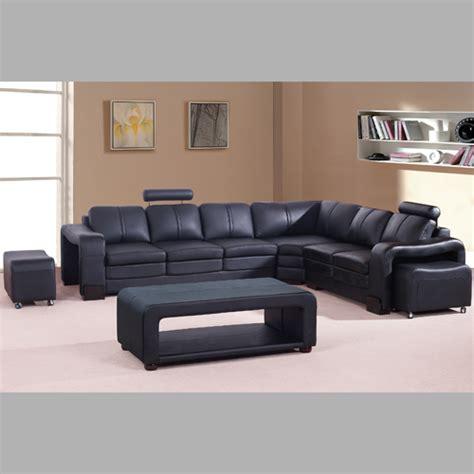 salon canapé cuir complet salon complet