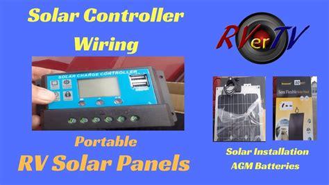 Rv Solar Panel Wiring by Wiring Solar Controller Rv Solar Systems Portable