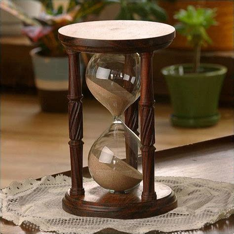 grey stand solid cocobolo wood hourglass with spiral spindles