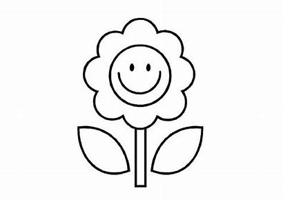 Cartoon Coloring Flower Pages Flowers Colouring Sheets