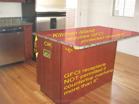 kitchen island electrical outlet how to perform kitchen inspection home inspector tips