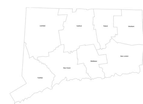 connecticut county map  county names