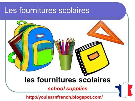 vocabulaire bureau lesson 40 supplies stationery vocabulary
