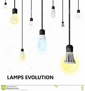 Hanging Light Bulbs On A White Background. Stock Vector ...