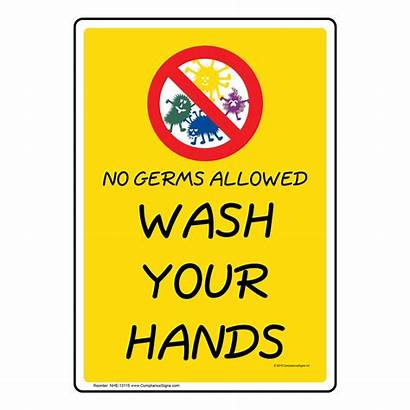 Hands Wash Hand Washing Germs Sign Nhe