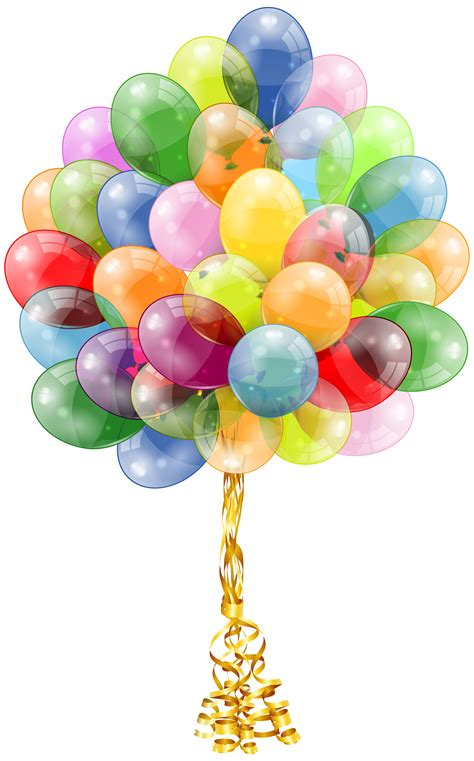 Transparent Balloons Bunch Clipart Image Gallery