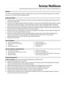 project resume technical project manager resume exle
