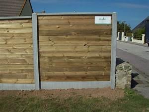 Poteau Beton Cloture Bricomarche : poteau de cloture beton galerie avec cloture mixte bois ~ Dailycaller-alerts.com Idées de Décoration