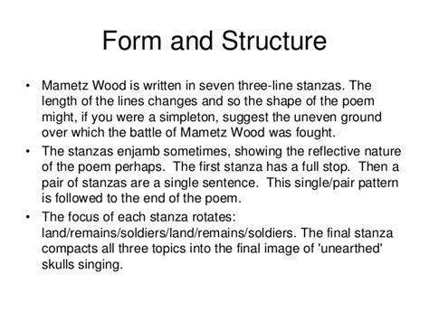 The Wound Dresser Stanza Analysis mametz wood revision information