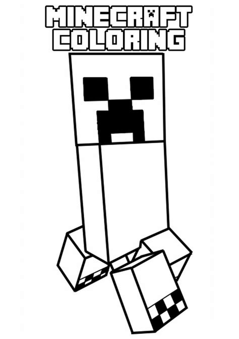 minecraft  printable coloring pages