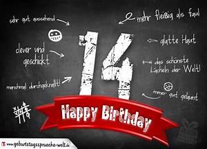 14 Geburtstag Feiern Ideen : komplimente geburtstagskarte zum 14 geburtstag happy birthday geburtstagsspr che welt ~ Frokenaadalensverden.com Haus und Dekorationen