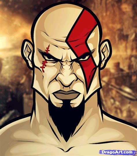 How To Draw Kratos Easy Step By Step Video Game