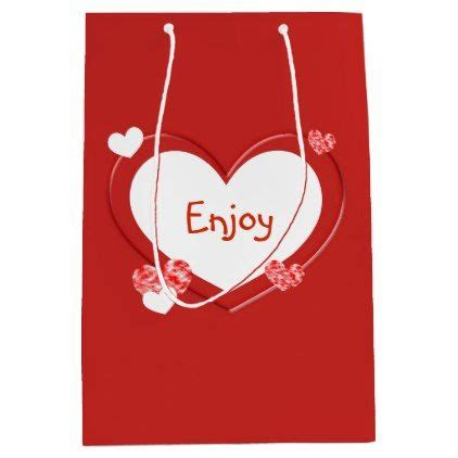 customizable red hearts valentines day gift bag zazzle