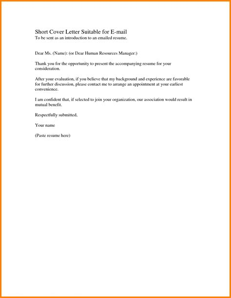 brief cover letter cover letters exles images letter format formal 28375