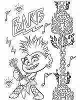 Trolls Coloring Barb Tour Queen Troll Printables Rock Ausmalbilder Coloriage Printable Poppy Techno King Branch Raskrasil Colorare Trollex Loves Kleurplaten sketch template