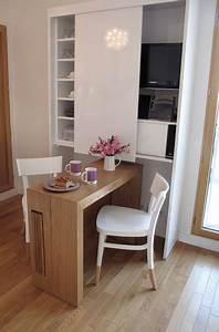 studio a boulogne billancourt contemporain salle a With beautiful meuble gain de place cuisine 4 architectes paris studio gain de place paris