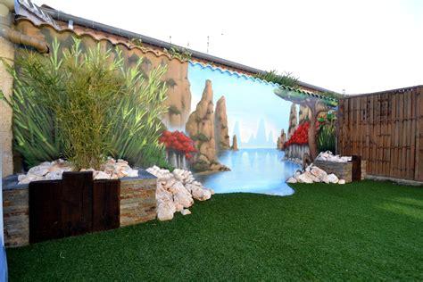 deco murale cuisine decoration mur exterieur jardin modern aatl