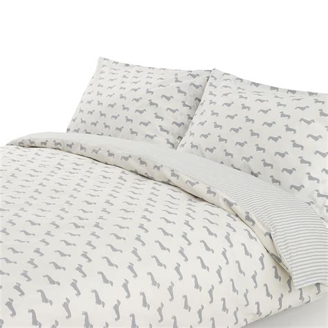 100 cotton duvet covers king size uk buy emily bond dachshund grey duvet set amara