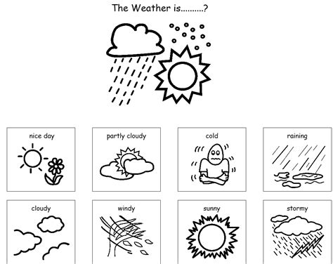 weather coloring pages printable coloringstar of sheets