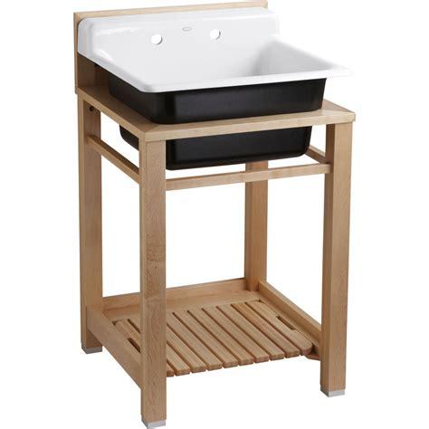kohler utility sink shop kohler white cast iron laundry sink at lowes