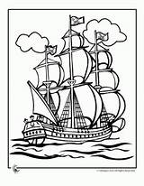 Coloring Pirate Ship Plank Tall sketch template
