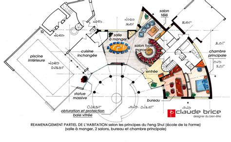 plan chambre feng shui aménagement feng shui particulier réaménagement en forez