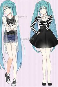 Hatsune Miku (different fashion styles) by Minori1997 on ...